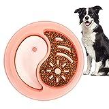 Gamelle anti-glouton pour chiens et chats - Aliment lent - Bol interactif - Pour chiens de taille moyenne et grande - Rose