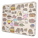 Pushe-en Cat Pizza Hamburger Mouse Pad Rectangle Non-Slip Rubber Gaming/Working Geek Mousepad Comfortable Desk Mousepad Standard Mouse Pad Gift Multiple Sizes Available