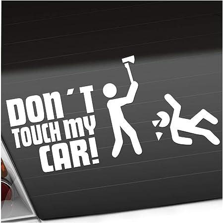 Dont Touch My Car 12 X 10 Cm In 15 Farben Neon Chrom Jdm Sticker Aufkleber Auto