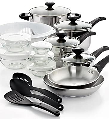 24 Piece Kitchen Cookware Set