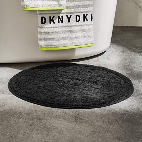 DKNY Manhole Cover Bath Rug, 22 x 22, Black
