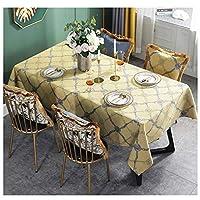 ヨーロッパの牧歌的なスタイルのテーブルクロス高品質の綿とリネン刺繍パターンユニバーサルカバータオル (Color : Yellow, Size : 130*180CM)