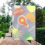 Mustertapete, Muster, visuelle Kunst, Illustration, Tapete, Kunst, Gartenflagge, Urlaub, Dekoration, doppelseitig, 30,5 x 45,7 cm, Outdoor-Dekoration für Häuser und Gärten