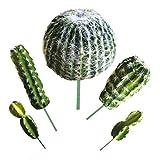 Aisamco 5 Pz Piante Succulente Cactus Artificiali Verde Uncotted Faux Flower Succulente Mini Cactus Prese Bulk Steli per La Casa Giardino Decorazioni