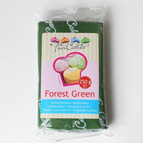 Funcakes Rollfondant in vielen verschiedenen Farben -250g- (Forest Green)