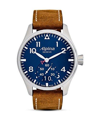Alpina Herren Analog Quarz Uhr mit Leder Armband AL-280N4S6