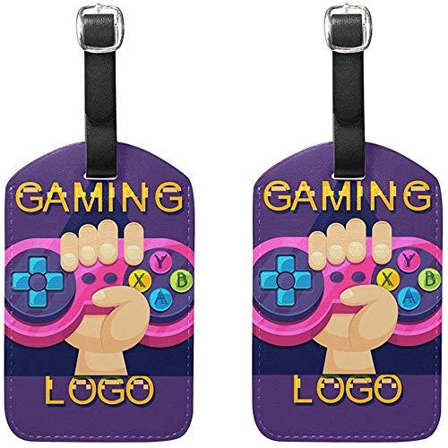 Plantilla de Logotipo de Videojuego Etiquetas de Equipaje Etiquetas de Viaje de Bolsa para Maleta de Equipaje 2 Piezas