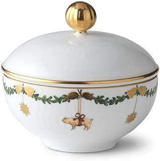 Royal Copenhagen Star Fluted Christmas Sugar Bowl w/Lid