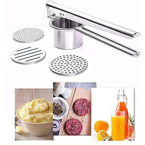 TT1 Multifunktionaler Entsafter, Kartoffelstampfer, Edelstahltopf, Fruchtsaftpresse, Hamburger