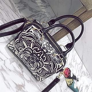 WTYD Single Shoulder Bag Leisure Fashion PU Leather Slant Shoulder Bag Handbag (Black) (Color : White)