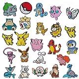 NANANA Lot de 20 écussons brodés à repasser Motif Pokémon Pikachu