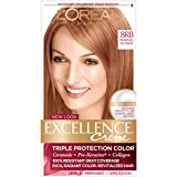 L'Oreal Paris Excellence Creme Permanent Hair Color, 8RB Medium Reddish Blonde, 100% Gray Coverage Hair Dye, Pack of 1
