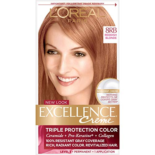 Excellence Creme Pro - Keratine # 8RB Rötlich Blond L'Oreal 1 Anwendung Haarfarbe