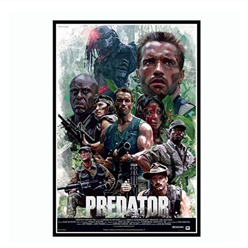 Suuyar Arnold Schwarzenegger Poster und Drucke The Predator Monster Horror Film Kunst Leinwand Wandbilder Wohnkultur quadro-50x70cm No Frame