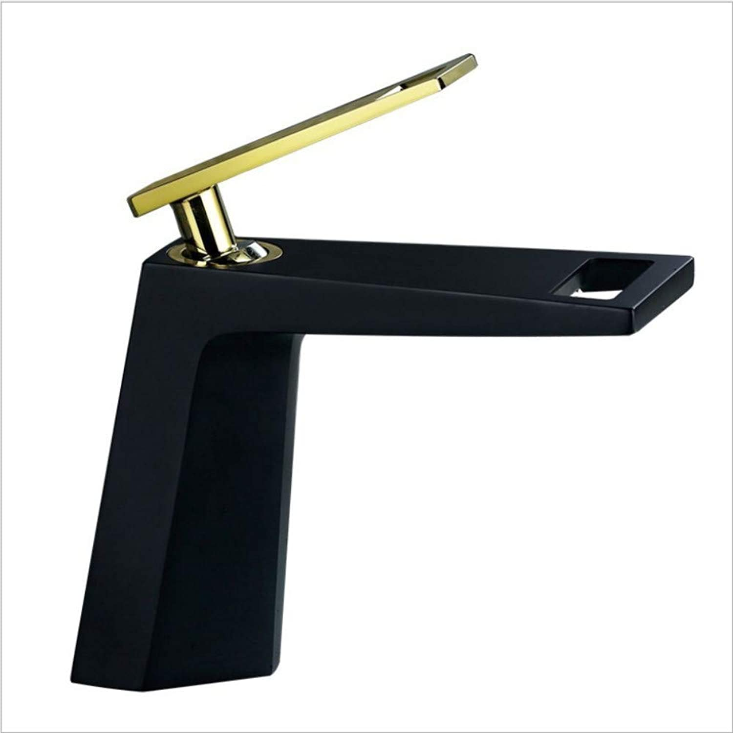 Kitchen Sink Taps Bathroom Sink Taps Copper Basin Faucet Black Faucet Bathroom Wash Basin Hot And Cold Water Mixing Waterfall Faucet