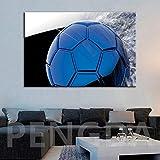 AQgyuh Puzzle 1000 Piezas Cuadro de Arte Pintura de fútbol Azul Puzzle 1000 Piezas paisajes Educativo Divertido Juego Familiar para niños adultos50x75cm(20x30inch)