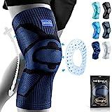 NEENCA Rodilleras, rodilleras de compresión con almohadilla de gel de rótula y estabilizadores laterales de resorte, protector de rodilla de grado médico para correr, desgarro de menisco, artritis