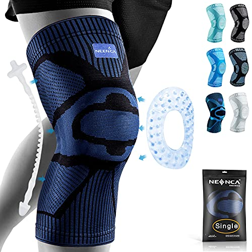 NEENCA Professional Knee Brace Compression Sleeve - Best Knee Pads Knee Braces for Men Women, Medical Grade knee sleeves support for Meniscus Tear, Arthritis, Joint Pain Relief, Sports Injury Recovery