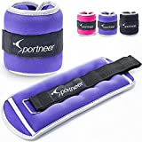 Sportneer Ankle Weights Wrist Weights 1lb per Pack,2lbs Pair,Purple