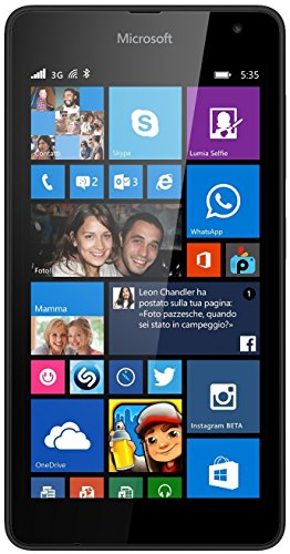 Tim Microsoft Lumia 535 12,7 cm (5 Zoll) 1 GB 8 GB Single SIM Schwarz 1905 mAh - Smartphones (12,7 cm (5 Zoll), 1 GB, 8 GB, 5 MP, Windows Phone 8.1, Schwarz)