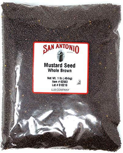 16盎司优质全棕色芥末种子(1磅散装种子)