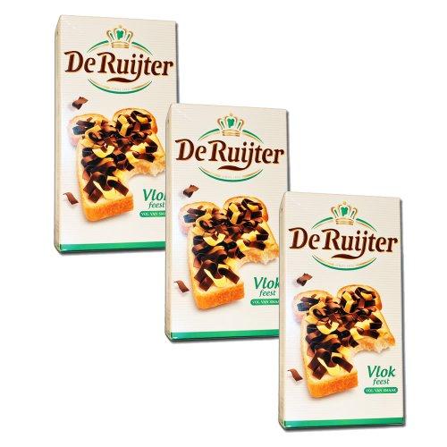 3 x De Ruijter Vlok feest - Schokoflocken gemischt - 300g