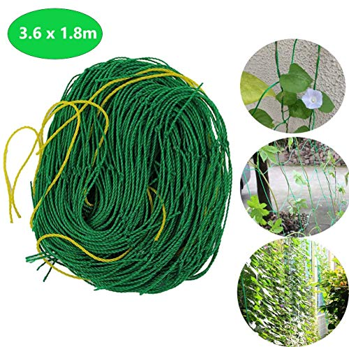 ECHG 3.6 x 1.8m Garden Netting Nylon Trellis Netting Plant Pea Netting for Bean Fruitsfor Climbing Plants