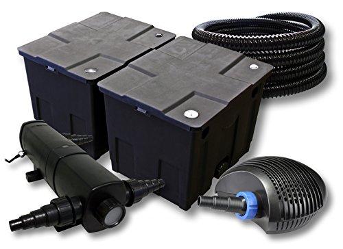 SunSun Filter Set für 60000l Teich mit 36W Teichklärer und 40W ECO Pumpe 25m Schlauch