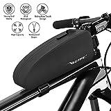 VEEAPE Borsa Telaio Impermeabile Bici MTB Bici da Strada Borsa Bicicletta Tubo Anteriore Grande capacità, Velcro Regolabile/Materiale Riflettente