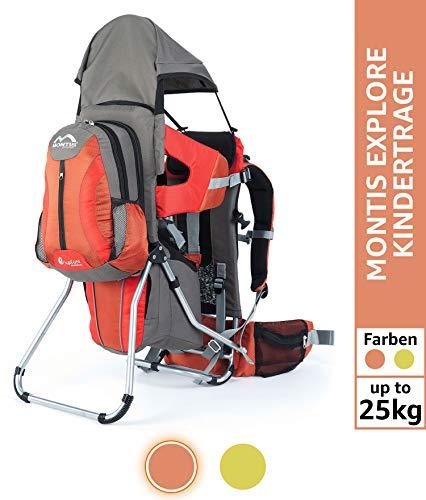 MONTIS EXPLORE EVOLUTION, mochila portabebés, hasta 25 kg, 2000 g, NARANJA