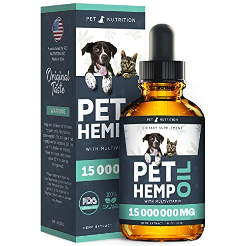 Hеmp Oil Dogs Cats - Helps Pets with Аnxiety, Pаin, Strеss, Sleep,...