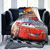 Kids Cartoon Lightning McQueen Cars Blanket Boys Throw Blankets Girls Flannel Sofa Couch Bedding Set Bedroom Set(40'x50')