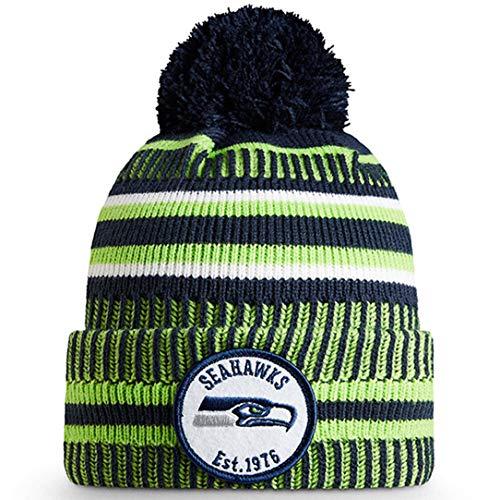 New Era ONF19 Sport Knit Mütze Seattle Seahawks Grün Blau, Size:ONE Size