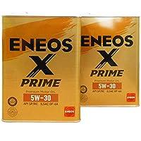 【2缶セット】 ENEOS X PRIME (エックスプライム) エンジンオイル 5W-30 SP/RC GF-6A (100%化学合成油) 4L×2缶