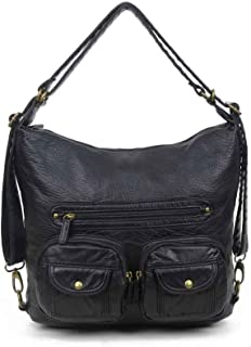 38a6dc339 Convertible Purse - Both Backpack and Shoulder Bag in Soft Vegan Leather
