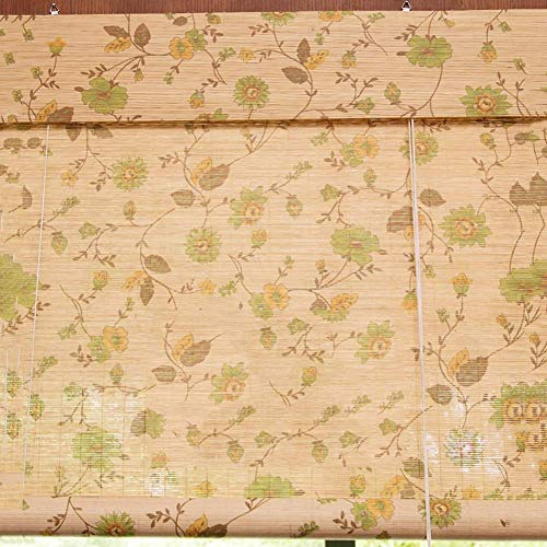 LY88 Persianas Romanas de Madera con Cenefa, Cortinas enrollables de bambú Que filtran el Sol para la partición de la Sala de té, 60/80/100/120/130/140 cm de Ancho (tamaño: 130 y Tiempos; 240 cm)