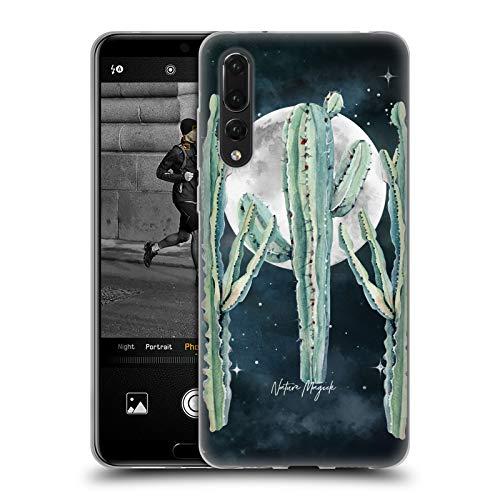 Head Case Designs Ufficiale Nature Magick Cactus Trio Moon Night Sky Cactus Desert Nights Cover in Morbido Gel Compatibile con Huawei P20 PRO