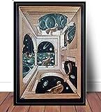 MZCYL Puzzle 1000 Pezzi Immagine di Montaggio S Escher Surreale Arte Geometrica per Adulti Giochi per Bambini Giocattoli Educativi MA5523