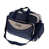 Homyl Große Wickeltasche Babytasch Windeltasche Pflegetasche Reisetasche Mummy Tote Tasche Babytasche Umhängetasche Handtasche für Unterweg - Marine, Klein