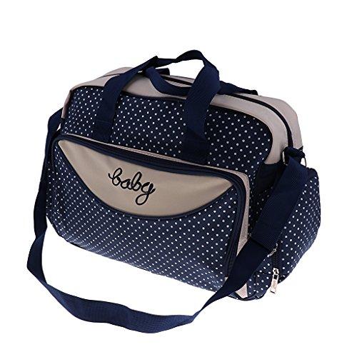 Homyl Große Wickeltasche Babytasch Windeltasche Pflegetasche Reisetasche Mummy Tote Tasche Babytasche Umhängetasche Handtasche für Unterweg - Marine, Groß
