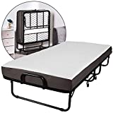 ADORNEVE Foldable Folding Bed -Twin Size, Rollaway Bed with 5 Inch Memory Foam Mattress and a Super Strong Sturdy Frame, No Assembly -Easy Storage Ultra Compact Spring Supported Bedframe, 76x38 Inch