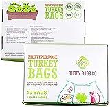 Buddy Bags Co Multipurpose Nylon Turkey Oven Bags - 19' x 24.5' - 10 Pack