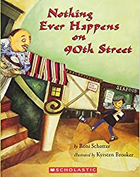 A screenshot of the cover of the book Nothing Ever Happens on 90th Street