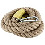 NiceDD Heavy Duty 10Feet 3.05M Gym Climbing Ropes with Carabiner for Adult Improve Grip and Increase Power