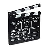 Relaxdays Filmklappe Holz, Regieklappe, Synchronklappe, Clapperboard, beschriftbar, Deko, H x B: 26...