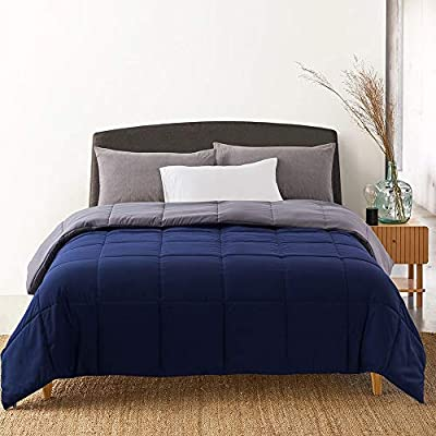 Cosybay Reversible Down Alternative Comforter Blue/Grey - Corner Duvet Tabs- Double Sided & Lighweight -All Season Duvet Insert-Stand Alone Comforter – Full Size(82×86 Inch) by Cosybay