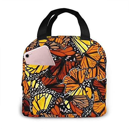 Schmetterlinge #135 Tragbare isolierte Lunchbox Wasserdichte Tote Bento Bag Für Büro Wandern Strand Picknick