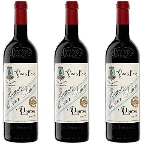 Protos 27 Vino Tinto - 3 botellas x 750ml - total: 2250 ml