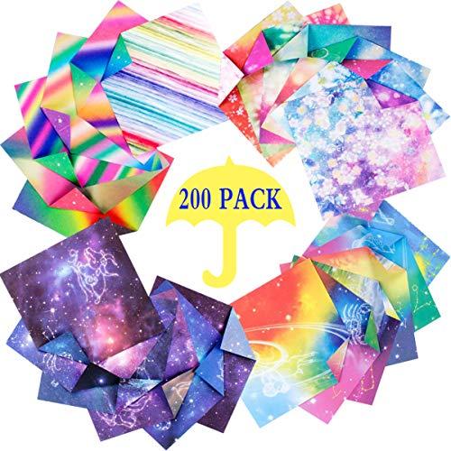 Liuer Origami Papel,Papel para papiroflexia Set para niños y adultos para Origami para proyectos de arte y manualidades(15 * 15 Cm,Origami de Doble Papel)