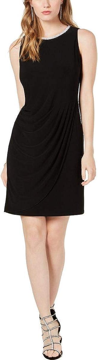 MSK Womens Embellished Sleeveless Cocktail Dress